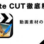『Cute CUT』の使い方2【動画素材の編集編】