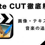 『Cute CUT』の使い方3【写真・テキスト・音の追加編】